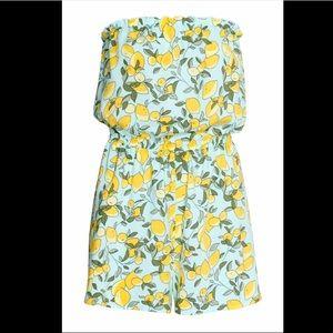 H&M lemon print romper
